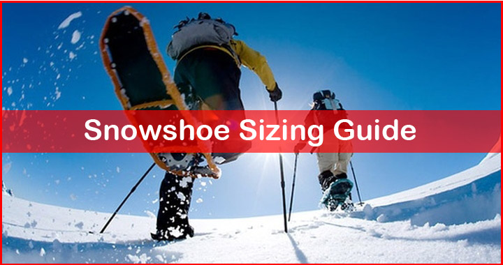 snowshoes sizing guide by weight
