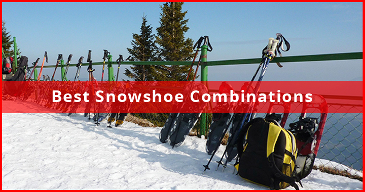 Snowshoe Combinations - shoes and poles